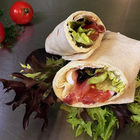 Wrap Jambon cru mozza pesto